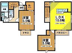東京都杉並区永福3丁目の賃貸アパートの間取り