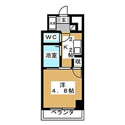 レジデンスシャトー[2階]の間取り