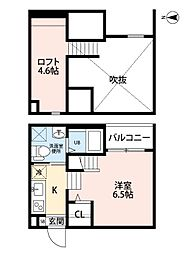 名古屋市営鶴舞線 原駅 徒歩9分の賃貸アパート 1階1SKの間取り