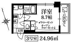 PondMum SUMIYOSHI 7階1Kの間取り