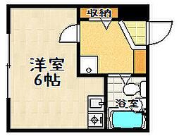 ドミノ石山[203号室]の間取り