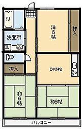 コーポカズマ[306号室]の間取り