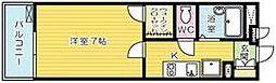 レオパレスKAZU[4階]の間取り