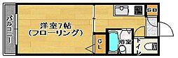 福岡県福岡市南区井尻4丁目の賃貸アパートの間取り
