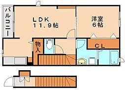 MKプレーヌ2[2階]の間取り