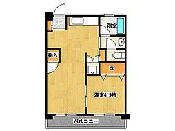 秀栄マンション[303号室]の間取り
