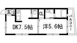ガーデンヒルズ箕面[1階]の間取り