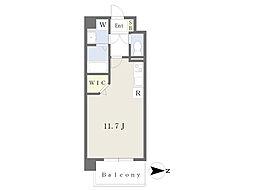 JR鹿児島本線 崇城大学前駅 徒歩4分の賃貸マンション 3階ワンルームの間取り