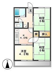 リバーサイド117[2階]の間取り