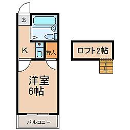 アンフィニ六番町 (アンフィニロクバンチョウ)[1階]の間取り