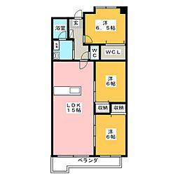 ベンハウス野田[4階]の間取り