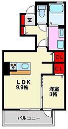 D-room筑紫丘[1階]の間取り