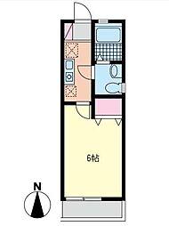 ラズベリーリーフ[1階]の間取り