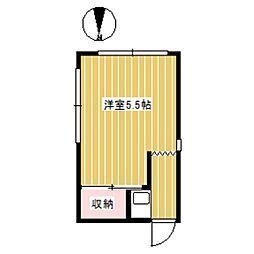 東京都杉並区和泉3丁目の賃貸アパートの間取り