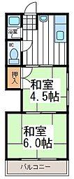 大阪府大阪市生野区生野西の賃貸マンションの間取り