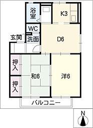 ベルホーム[2階]の間取り