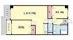 ジークレフ赤坂[210号室]の間取り