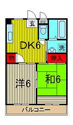 メゾン長栄II[101号室]の間取り