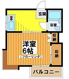 東京都渋谷区笹塚3丁目の賃貸アパートの間取り