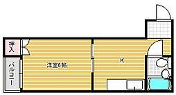 大阪府大阪市東淀川区相川1丁目の賃貸マンションの間取り