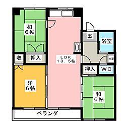 ハウジング六条[3階]の間取り