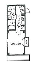 東京都品川区荏原5丁目の賃貸マンションの間取り