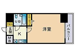 高崎鞘町シティハウス[405号室]の間取り