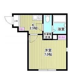 神奈川県横浜市磯子区磯子2丁目の賃貸アパートの間取り
