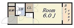 デイズハイツ八幡屋[7階]の間取り