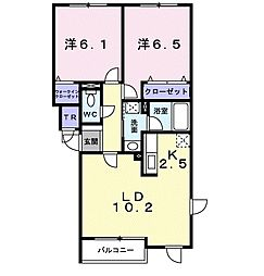 北海道札幌市豊平区福住二条9丁目の賃貸アパートの間取り