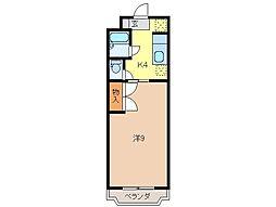 静岡県富士市浅間上町の賃貸マンションの間取り
