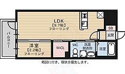 福岡市地下鉄空港線 赤坂駅 徒歩2分の賃貸マンション 10階1LDKの間取り