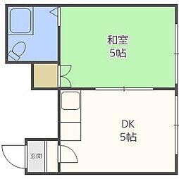 サンコーポ24B[1階]の間取り