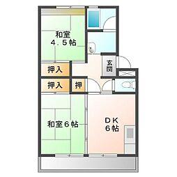上浜団地(1・2号棟)[1-702号室]の間取り