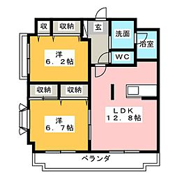 メゾン ド Kei[2階]の間取り