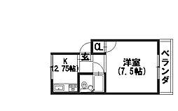 メゾネットK2[2階]の間取り