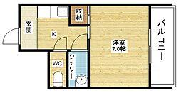 大阪府大阪市淀川区新高3丁目の賃貸マンションの間取り