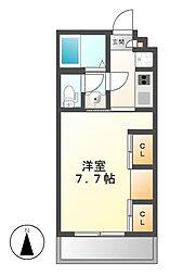 愛知県名古屋市昭和区御器所3丁目の賃貸アパートの間取り