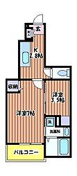 サンアローズ[1階]の間取り