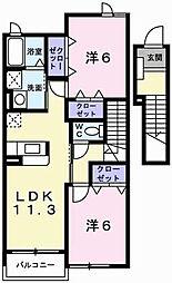 フォルスト2[2階]の間取り
