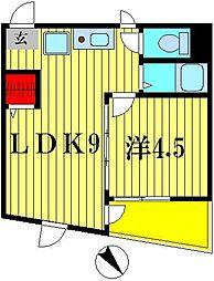 キャッスルマンション松戸 305[3階]の間取り