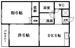 静岡県浜松市中区泉4丁目の賃貸アパートの間取り