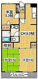 フローラルマンション[101号室]の間取り