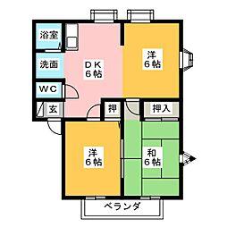 MEMORIAL KAMIYA A棟[1階]の間取り