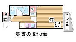 兵庫県神戸市中央区下山手通6丁目の賃貸マンションの間取り