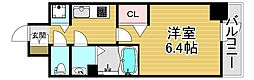プレサンス福島ミッドエル 8階1Kの間取り