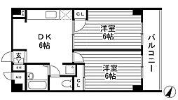 ベルテAKI[2階]の間取り