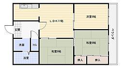 サンサーラ小川[2階]の間取り
