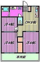 蕨ハイツ[103号室]の間取り