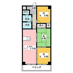 COURTYARD[3階]の間取り